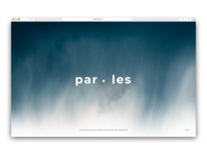Paroles, homepage