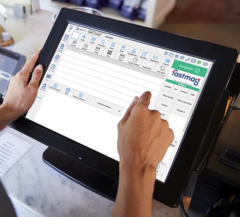Photo de l'interface actuelle du logiciel de caisse en situation réelle