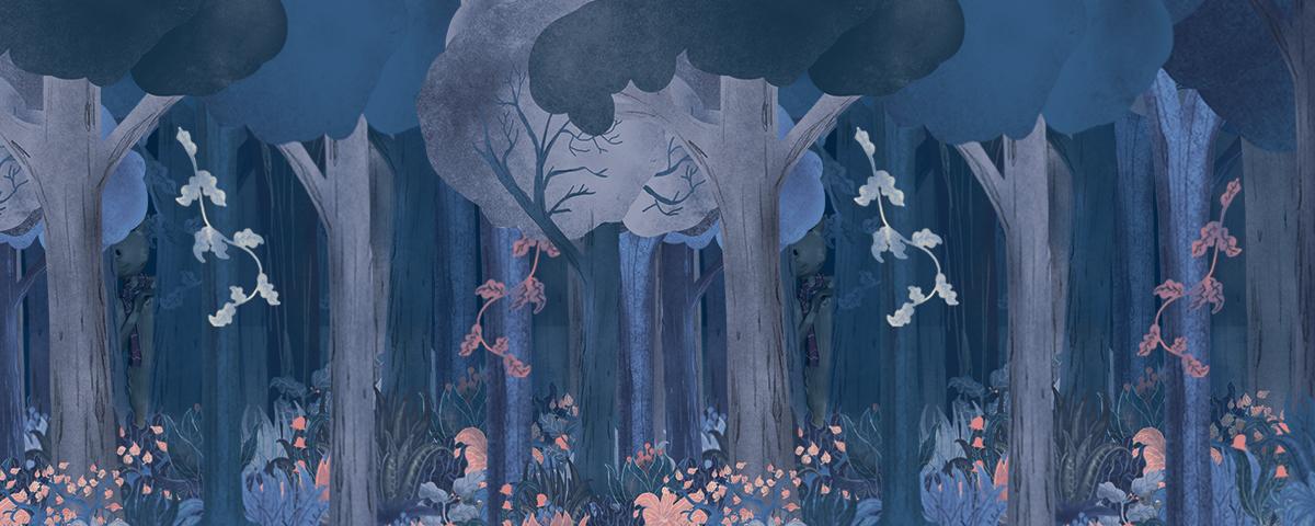 Dans la forêt du chaperon rouge